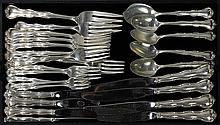 American sterling silver flatware service for four by Gorham in the