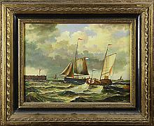 Painting, Yacht Race