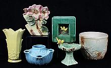 (lot of 19) American art pottery group