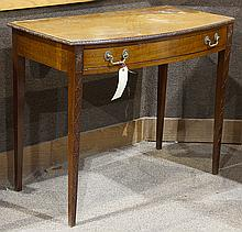 George III bow-front console table