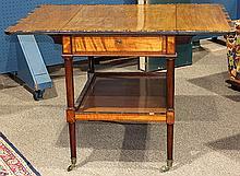 Late George III calamander and mahogany pembroke table