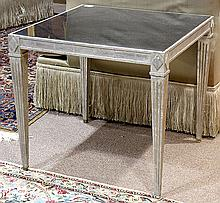 Neoclassical style silvered occasional table