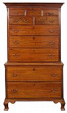 Pennsylvania Chippendale chest on chest