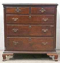 Pennsylvania Chippendale chest of drawers