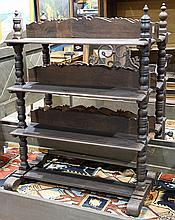 Pair of Spanish Revival open bookcases