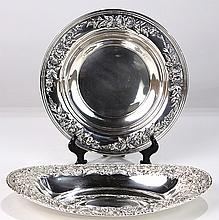 S. Kirk & Son hand-decorated sterling silver hollowware, 24.11 troy oz.