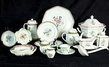 (lot of 68) Adams hand painted calyx ware