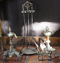 Dutch brass andirons