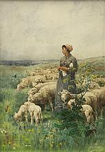 Print, After Luigi Chialiva, Shepherdess