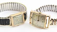 Two gold wristwatches, 1930's - 1940's
