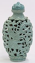 Chinese Turquoise Porcelain Snuff Bottle