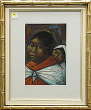 Pastel, Arturo Nieto, Mother and Child