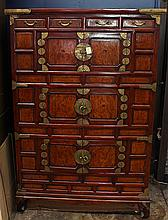 Korean  Wooden Three-level Chest
