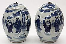 Two Chinese Blue and White Jars
