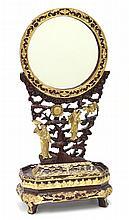 Chinese Gilt Wood Mirror