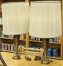 Pair of Hollywood Regency style table lamps