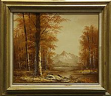 Painting, Autumn Mountain Scene