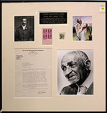 Framed George Washington Carver letter