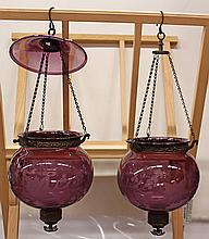 Pair of Hundi hall candle lanterns