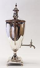 Sheffield plate hot water urn in the Adams taste