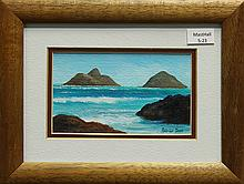 Painting, Mokulua Islands, Lanikai, 1993