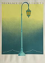 Lithograph poster, Necklace of Lights, Oakland