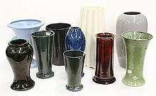 (lot of 10) Art pottery vases by Catalina, Jim Johnson for Bauer, and Ashby Guild