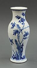 Chinese Blue-and-White Vase, Bird/Flower