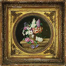 Pair of Continental hand painted porcelain plaques