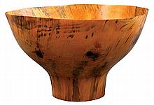 Ron Kent wood turned bowl executed in Norfolk Pine