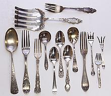 19th century American coin and sterling silver flatware
