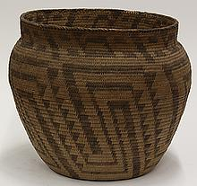 Pima basketry olla