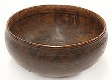American burlwood low bowl