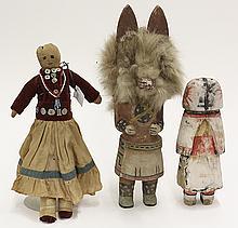 (lot of 3) Native American katchinas