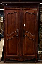 French Provincial two door armoire