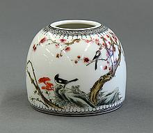 Chinese Porcelain Brush Washer, Magpies
