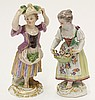 (lot of 2) Meissen porcelain figurines