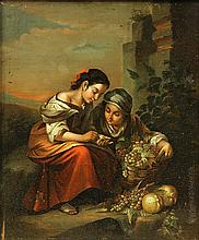 Painting, Italian School (19th century), A Bountiful Grape Harvest