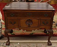 Chippendale mahogany low boy