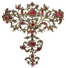 18th century Spanish ruby and diamond brooch