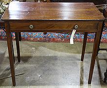 Late George III mahogany side table