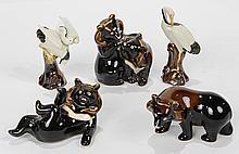 (lot of 5) Export porcelain group