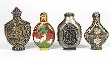 Chinese Cloisonne and Metal Snuff Bottles