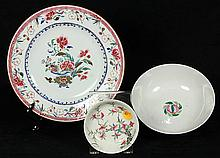 Three Chinese Porcelain, Export Plate