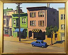 Painting, San Francisco Street on a Sunny Day