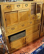 Japanese Two-section Mizuya Kitchen Tansu