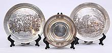 Two Currier & Ives 1973 & 1974 cabinet plates,