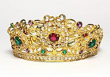 French vintage adjustable lady's crown