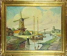 Painting, Holland Windmill