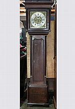 English George III oak tall case clock